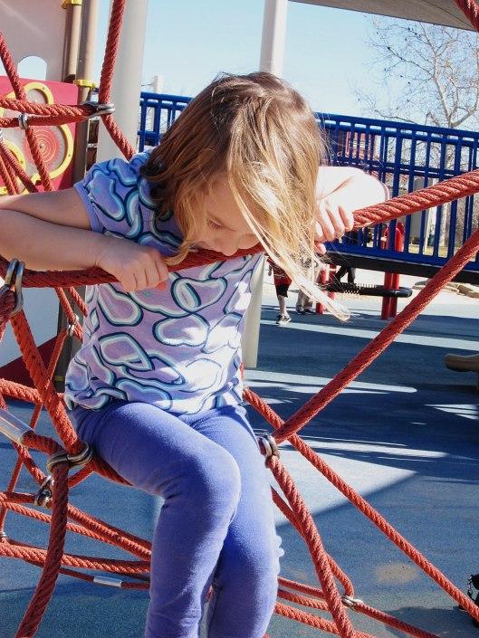 Edie at the park