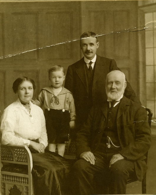 My great grandmother Fyfe with her father and grandfather.