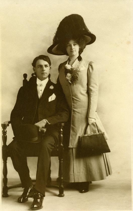 Edward and Elsie Walton Anderson - Wedding Day- 12-8-1910