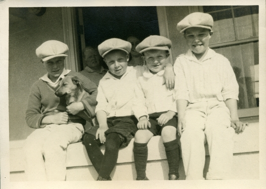 My grandfather Fyfe (second from left) and his brothers.